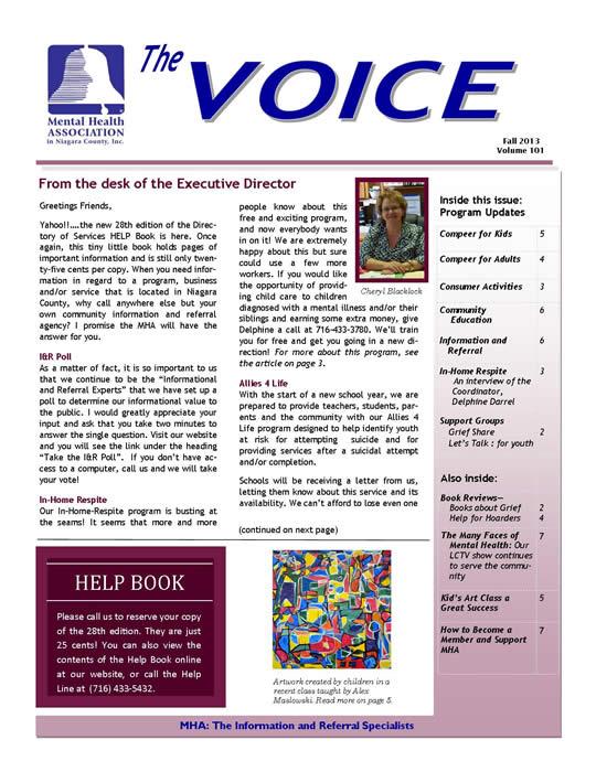 Mental Health Newsletter Method